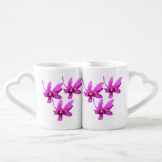 La taza de los amantes de la orquídea de Cooktown Tazas Para Parejas