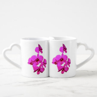 La taza de los amantes de la orquídea taza para enamorados