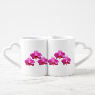 La taza de los amantes de la orquídea taza para parejas