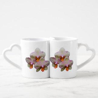La taza de los amantes de la orquídea tazas amorosas