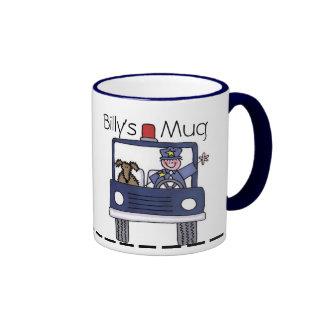 La taza de los hombres de la policía
