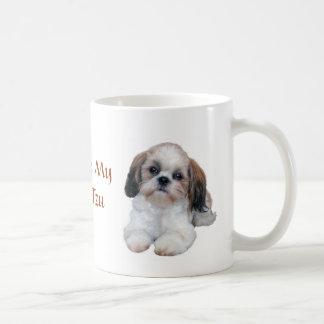 La taza de los perritos de Shih Tzu adora