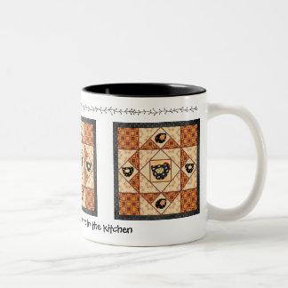 La taza de Quilter del remiendo de los polluelos d