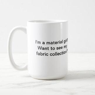 La taza de Quilter material del chica