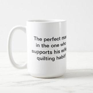 La taza de Quilter perfecto del hombre