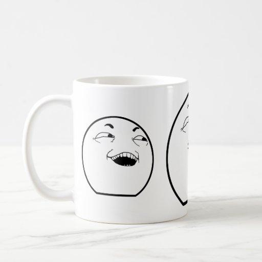 La taza de risa del hombre