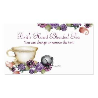 la taza de té de la bola de la elaboración de la tarjeta de visita