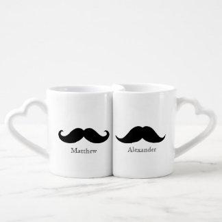 La taza del amante de encargo del bigote tazas amorosas