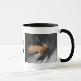La taza del amante del collie