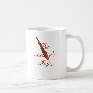 La taza del autor (canilla roja)