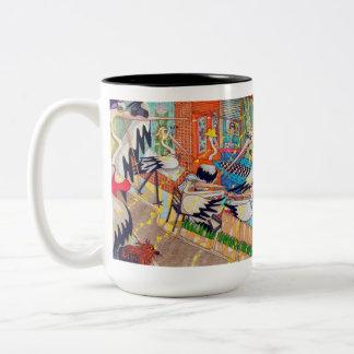 La taza del café del resto del pelícano