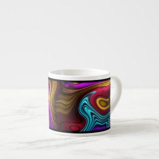 La taza del café express remolina oro amarillo del tazita espresso