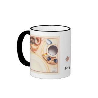 La taza del campanero del espacio en blanco del ©