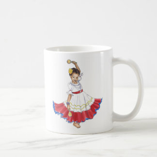 La taza del chica del bailarín de Latina