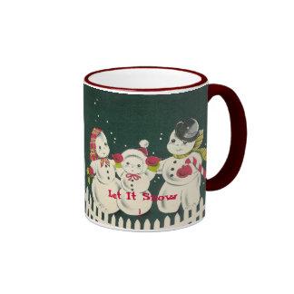 """La taza del día de fiesta del navidad """"lo dejó nev"""