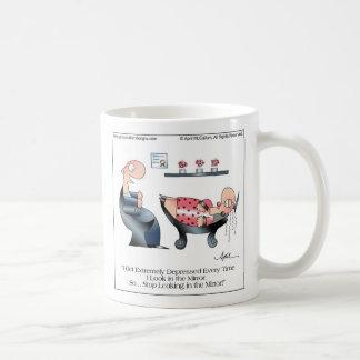 La taza del dibujo animado del ESPEJO