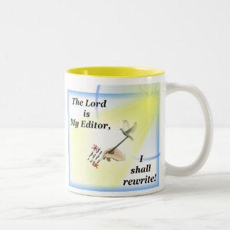La taza del escritor con parodia del salmo 23