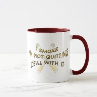 La taza del fumador orgulloso
