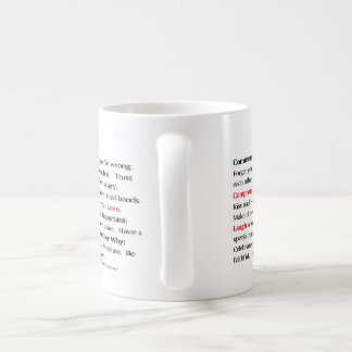 La taza del manifiesto de los pares