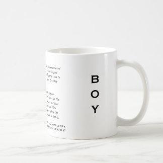 La taza del muchacho del atasco