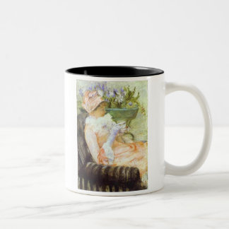 La taza del té retrato de Lydia Mary Cassatt