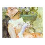 La taza del té, retrato de Lydia, Mary Cassatt Tarjetas Postales