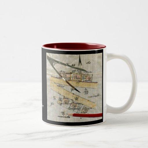 La taza del topógrafo - vintage