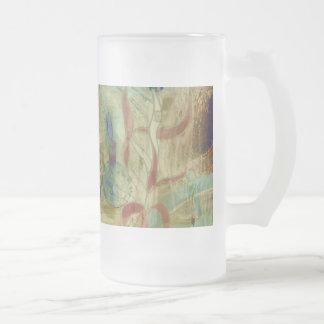 La taza del vidrio esmerilado de la luz de la noch