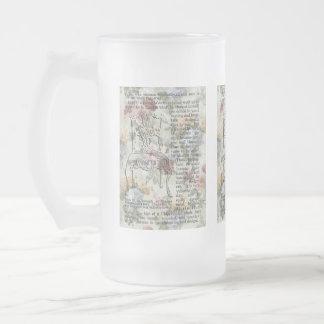 La taza del vidrio esmerilado de la silla de Chipp