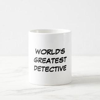 """La taza detective más grande del """"mundo"""""""