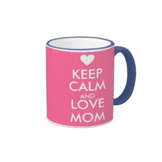 La taza el | del día de madres guarda calma y ama
