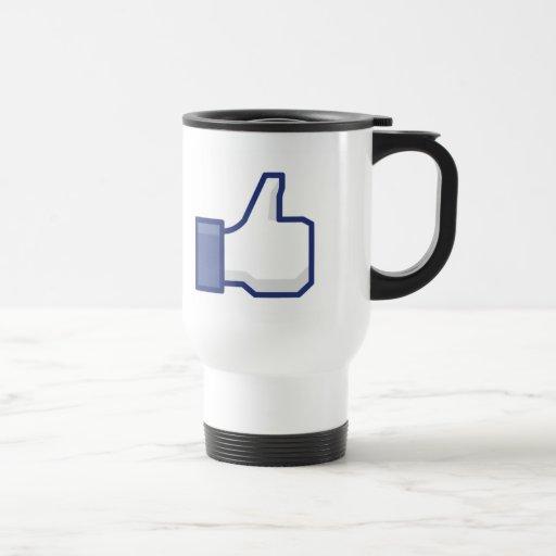 La taza Facebook tiene gusto del botón