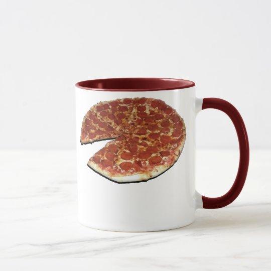 La taza gemela de las pizzas