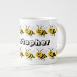 La taza grande de la abeja de la miel apenas añade tazas extra grande