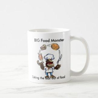 La taza GRANDE del monstruo GRANDE de la comida