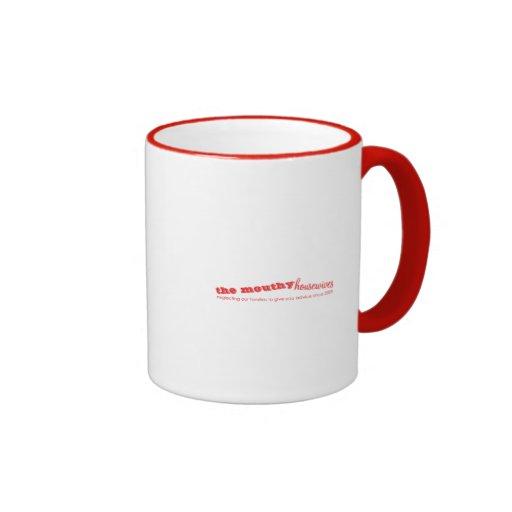 La taza gritona del logotipo de las amas de casa