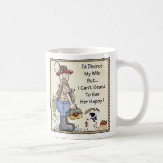 La taza I se divorció a mi esposa ..... divertida
