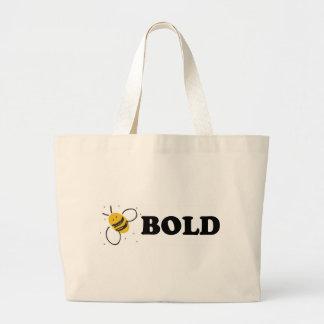 La taza intrépida de la abeja bolsa tela grande