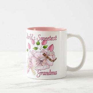 La taza más dulce de la libélula de la abuela del