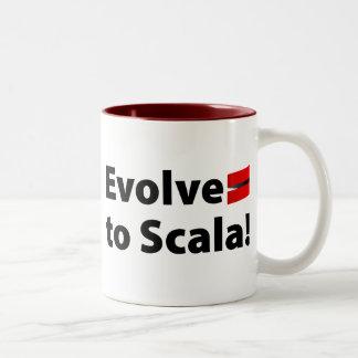 La taza o Stein de Scala, desarrolla el logotipo