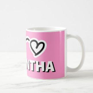 La taza personalizada de los chicas con