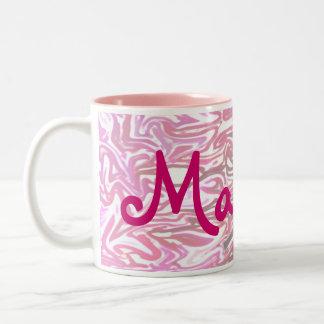 La taza rosada personalizada del chica