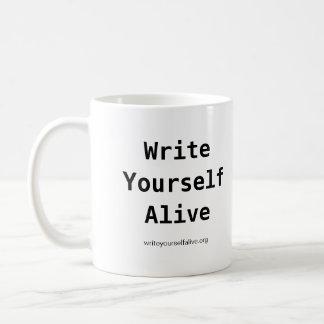 La taza viva de la escritura usted mismo