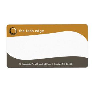 La tecnología curva la etiqueta de envío
