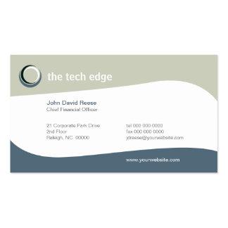 La tecnología curva la tarjeta de visita