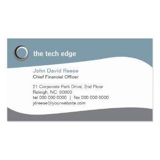 La tecnología curva la tarjeta de visita 2