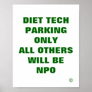La tecnología de la dieta que parquea solamente to póster