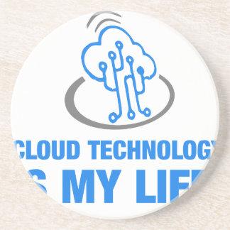 la tecnología de la nube es mi vida posavasos para bebidas