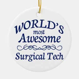 La tecnología quirúrgica más impresionante del adorno navideño redondo de cerámica