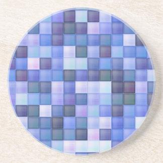 La teja azul del cuarto de baño ajusta el modelo posavasos manualidades